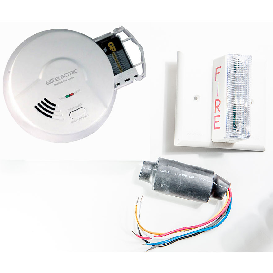 USI Electric 2453 Hardwired Ionization Smoke Alarm & Strobe Kit for Hearing Impaired