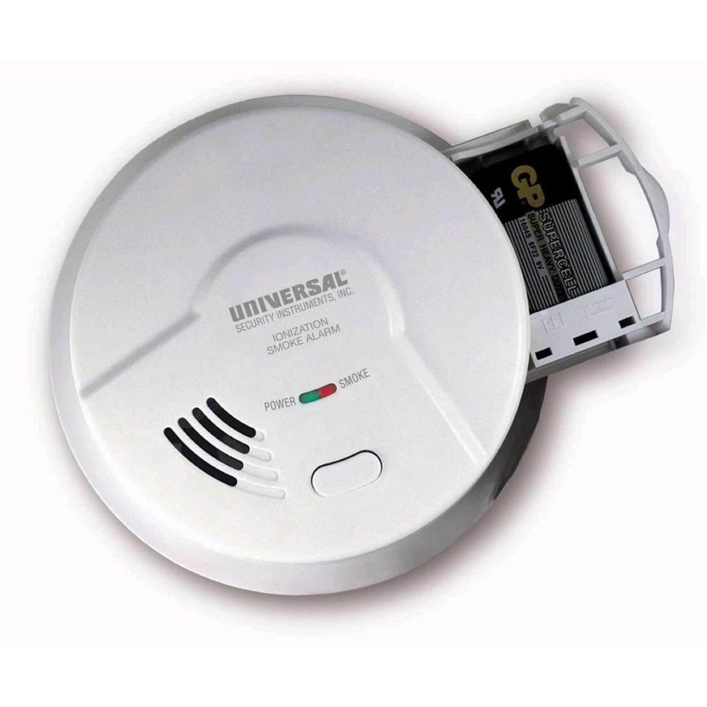 Universal Security Instruments 2975L Battery-Operated Ionization Smoke and Fire Alarm