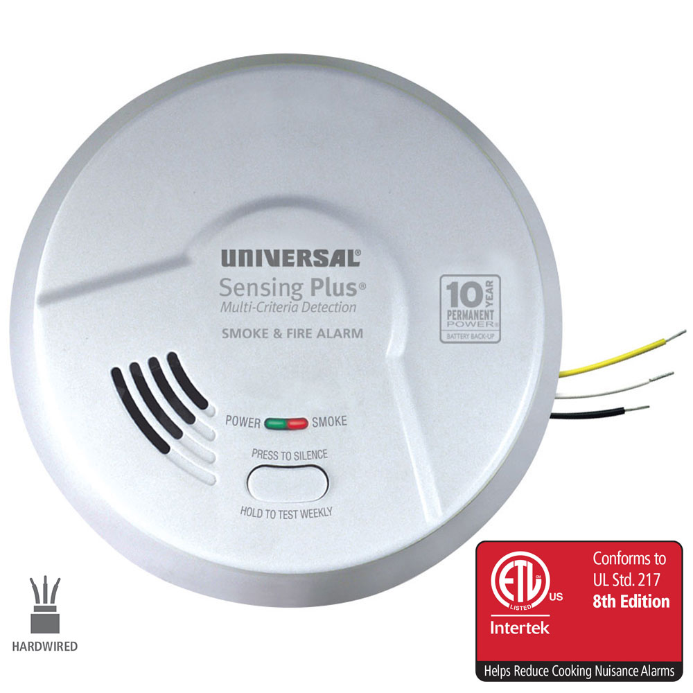 Sensing Plus AMI1061SB Multi Criteria Hardwired Smoke & Fire Alarm With 10 Year Battery Backup