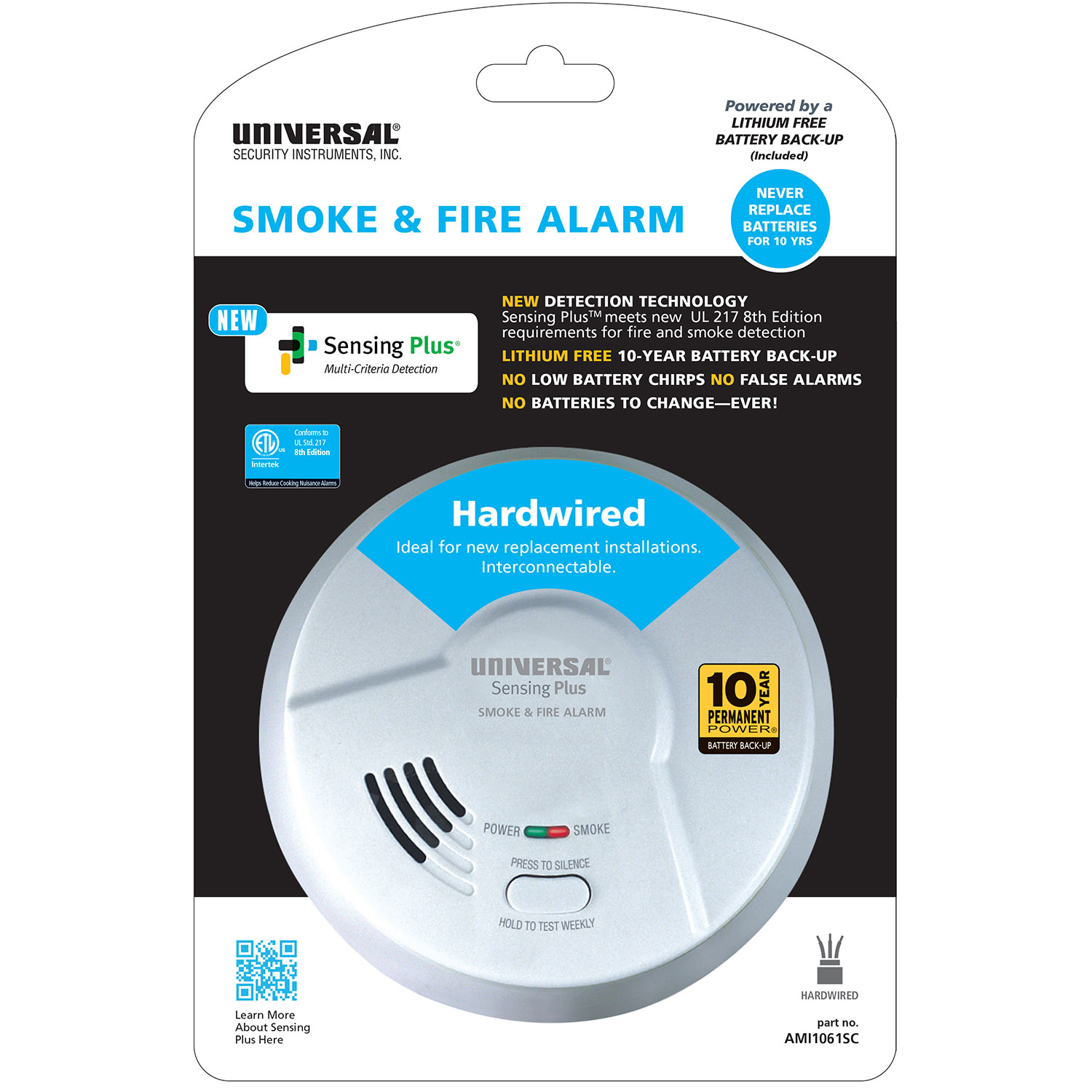 10 year Multi Criteria Hardwired Smoke & Fire Alarm