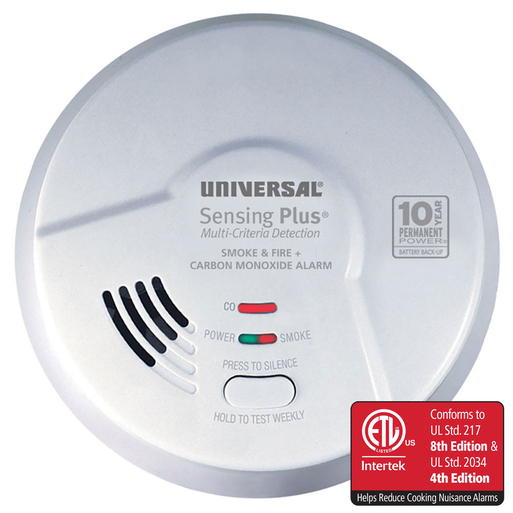 Sensing Plus AMIC3511SB Multi Criteria Combo Smoke, Fire & Carbon Monoxide Alarm With 10 Year Battery