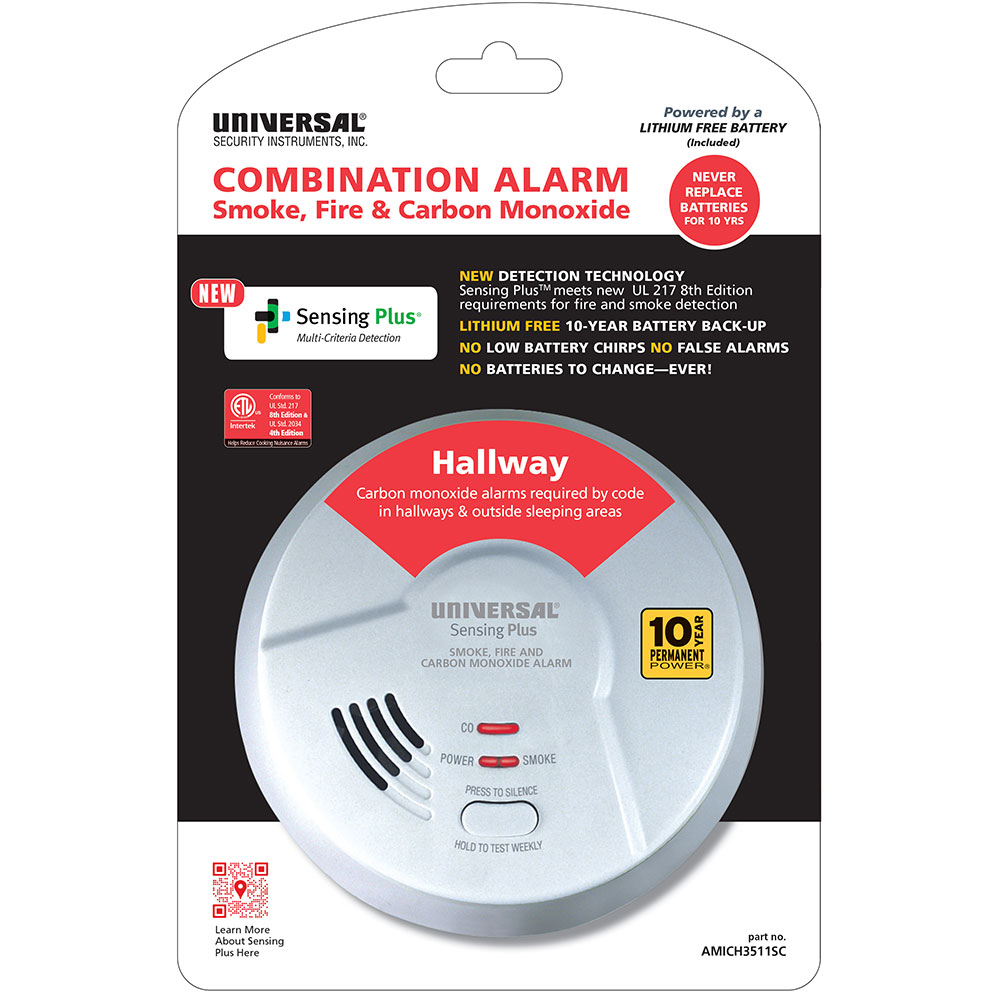 Hallway Combo Alarm With 10 Year Battery