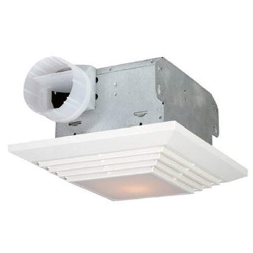 USI Electric BF-904L Bath Exhaust Fan with Custom-Designed Motor and 100-Watt Lamp, 90 CFM