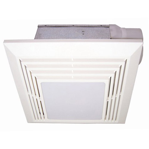 USI Electric BF-904LF Bath Exhaust Fan with Custom-Designed Motor and 26-Watt Fluorescent Light, 90 CFM