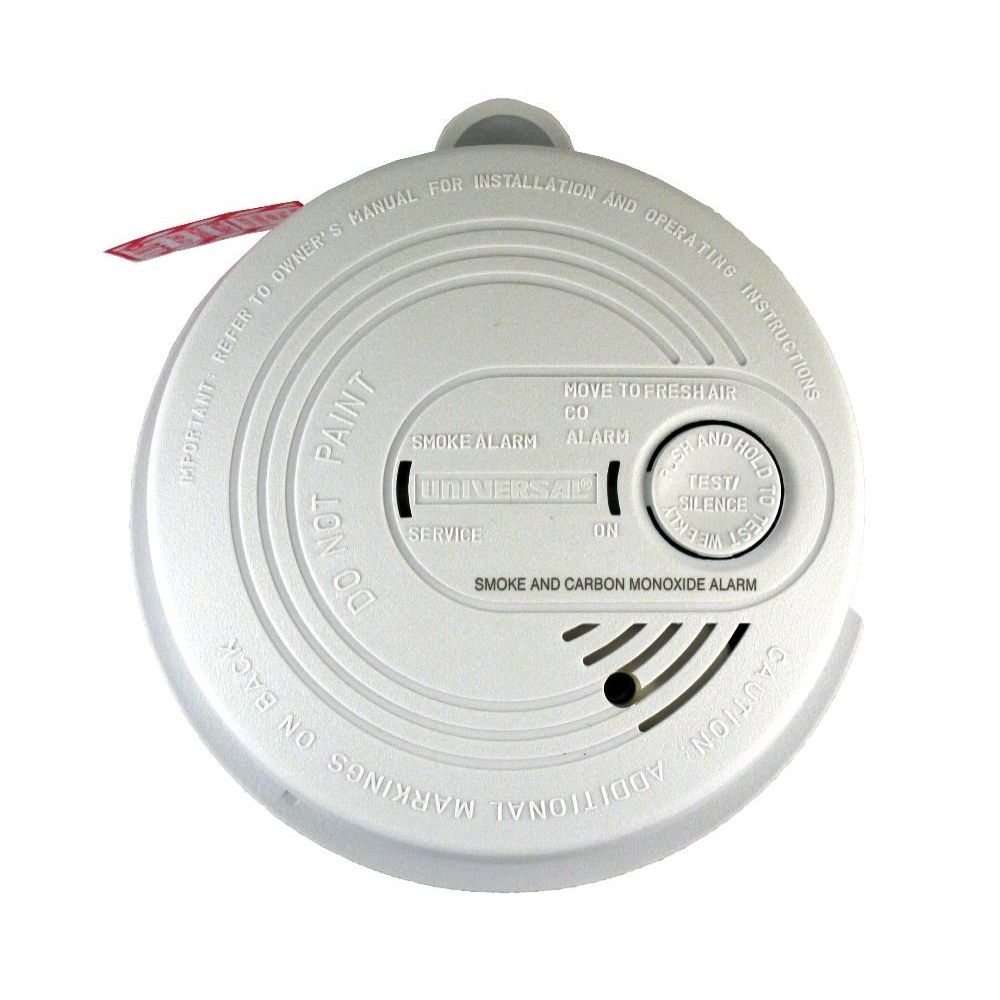 Universal Security Instruments Cd 9795 Hardwired Combo Smoke And Wiring Alarms Together 120 Volt Ac Dc Wired In Combination Carbon Monoxide Alarm