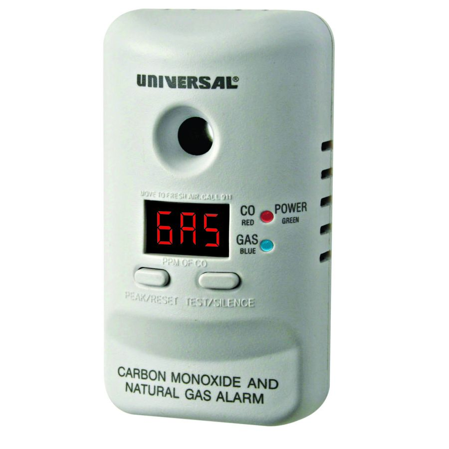 Universal Security Instruments MCND401 Plug-In 2-in-1 Carbon Monoxide and Natural Gas Smart Alarm with Battery Backup