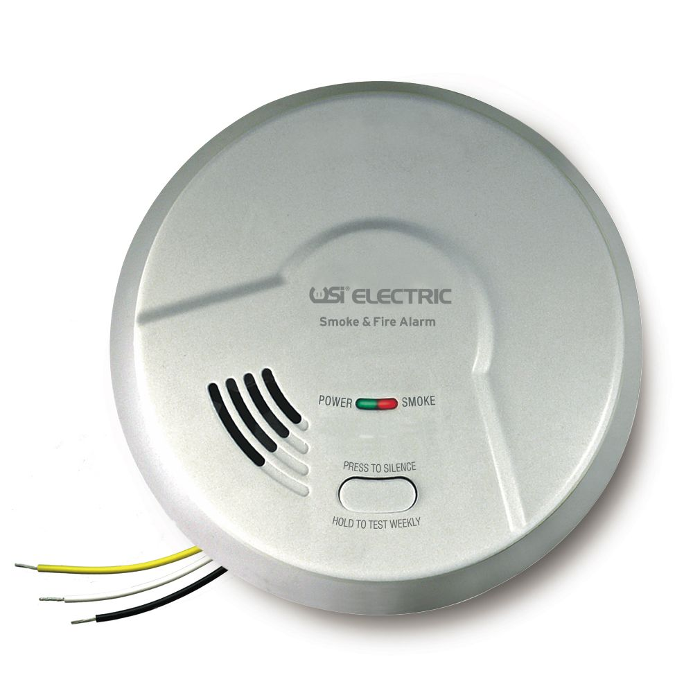 USI Electric MDS107 Hardwired Universal Smoke Sensing Technology (IoPhic) Smoke and Fire Alarm with Battery Backup