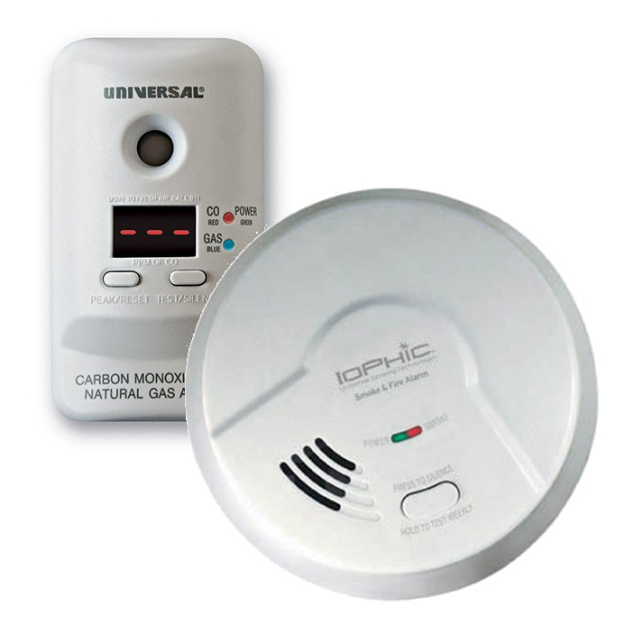 Universal Security Instruments MDS300-401 4-in-1 Universal Smoke Sensing (IoPhic) Smoke and Fire Alarm with CO and Natural Gas Alarm