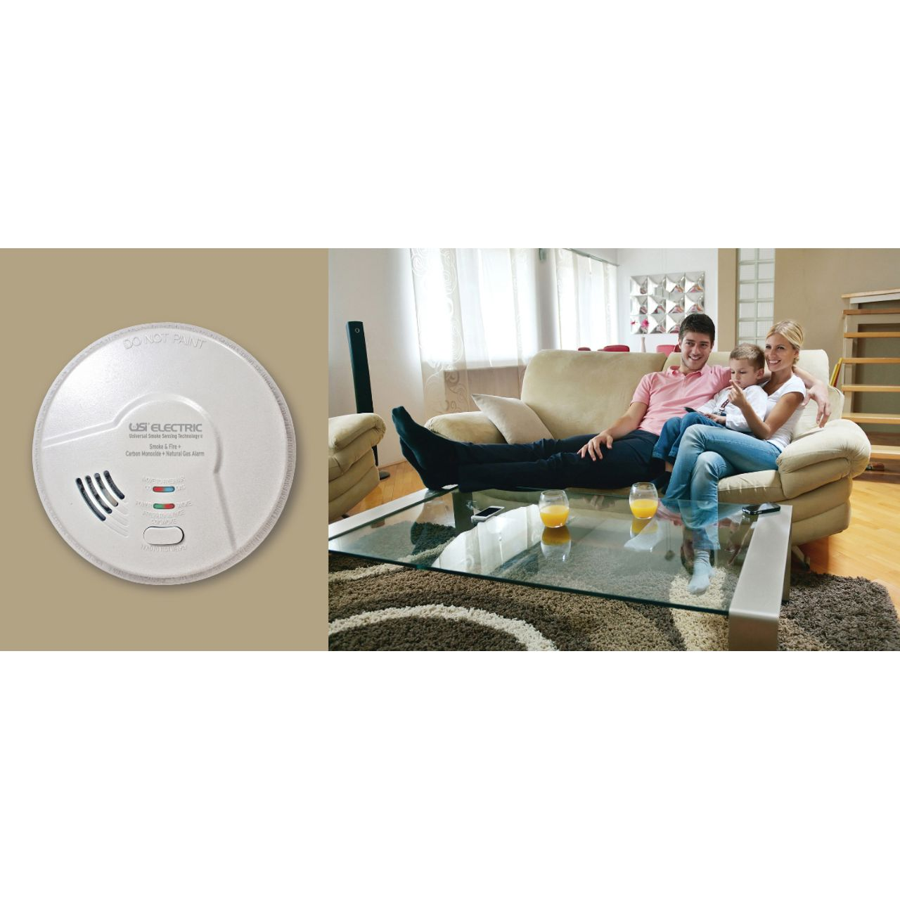 USI Electric MDSCN111CN 4-in-1 Universal Smoke Sensing Technology (IoPhic) Hardwired Smart Alarm