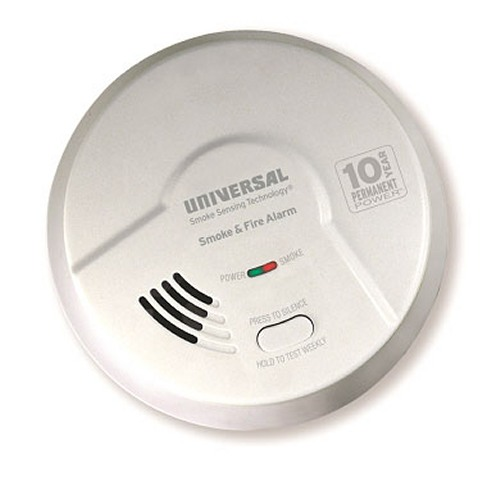 Universal Security Instruments MDSK300S 2-in-1 Kitchen Smoke and Fire Smart Alarm with 10 Year Sealed Battery