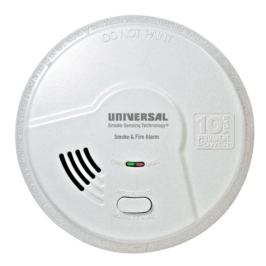 Universal Security Instruments MIB3050S 2-in-1 Bedroom Smoke and Fire Smart Alarm with 10 Year Sealed Battery