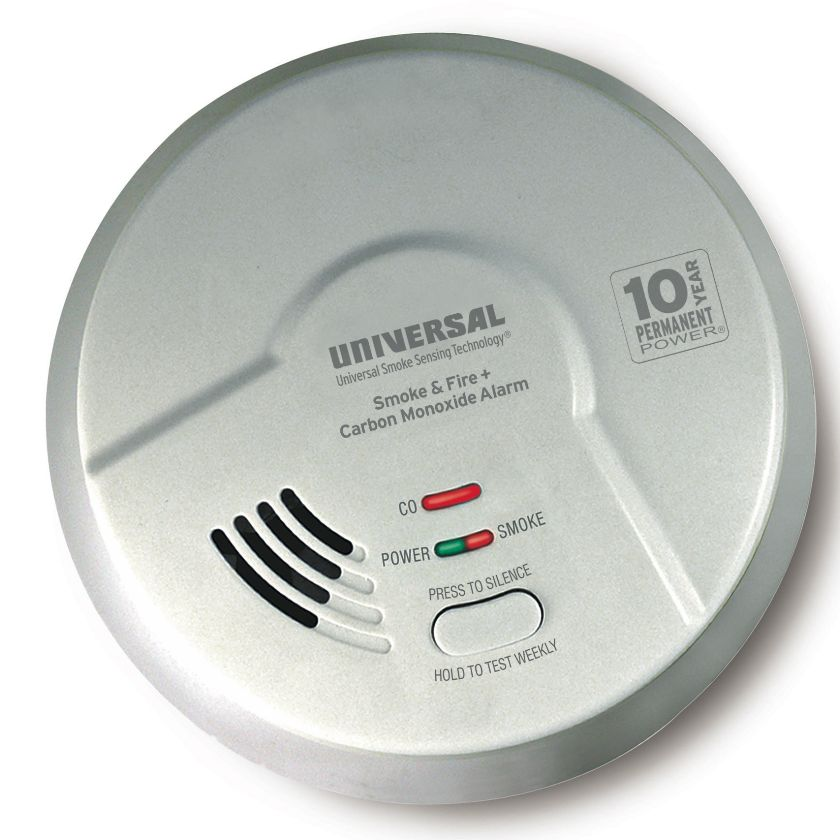 Universal Security Instruments MICH3510S 3-in-1 Hallway Smoke, Fire and Carbon Monoxide Smart Alarm with 10 Year Sealed Battery