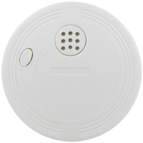 Universal Security Instruments SS‑770‑6CC Battery Operated Ionization Smoke and Fire Alarms, 6-Pack