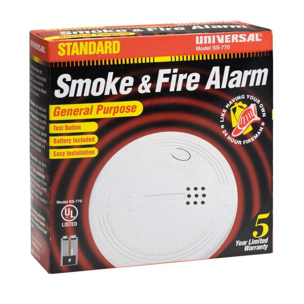 Universal Security Instruments SS‑770 Battery Operated Ionization Smoke and Fire Alarm
