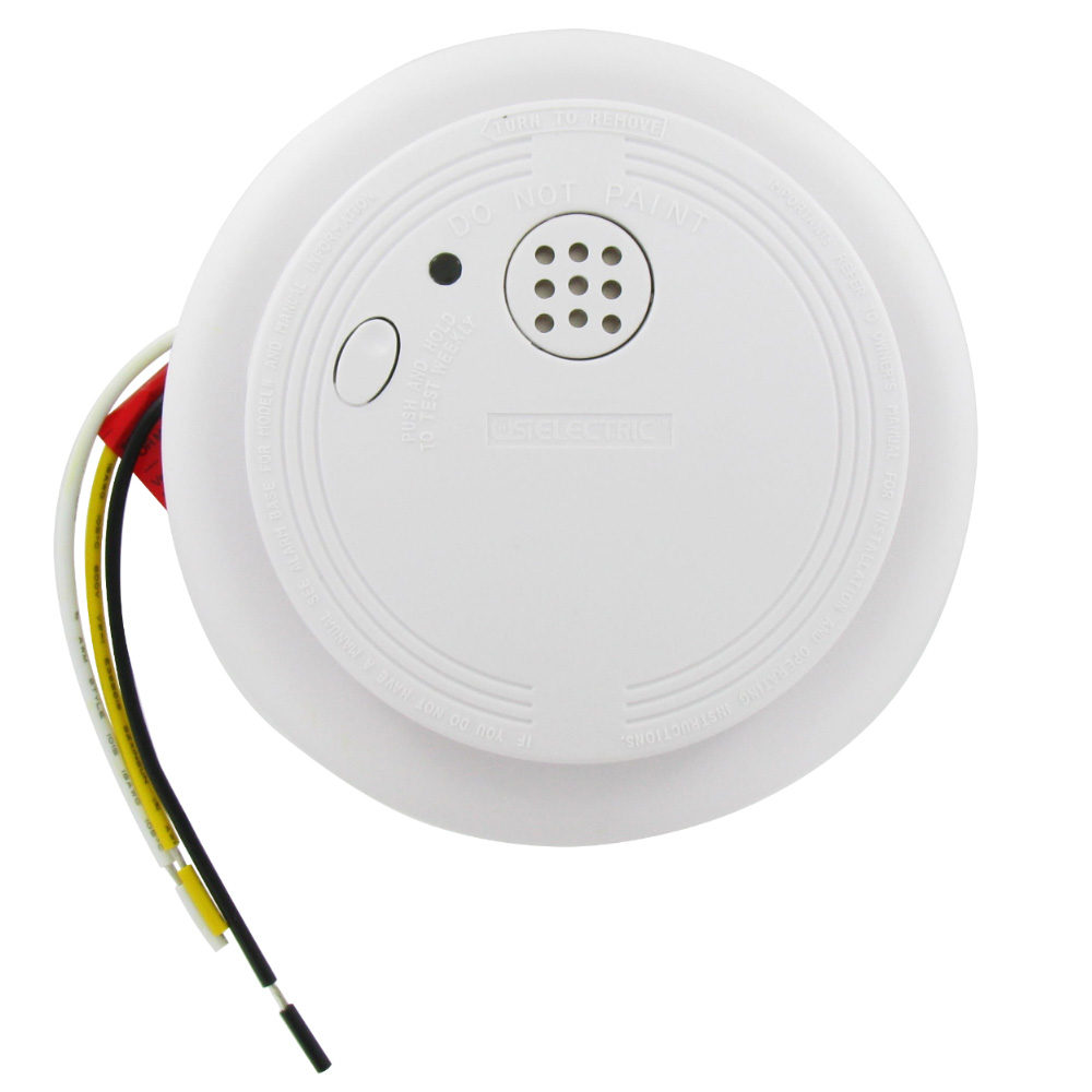 USI Electric USI-1204 Hardwired Ionization Smoke and Fire Alarm with Backup Battery