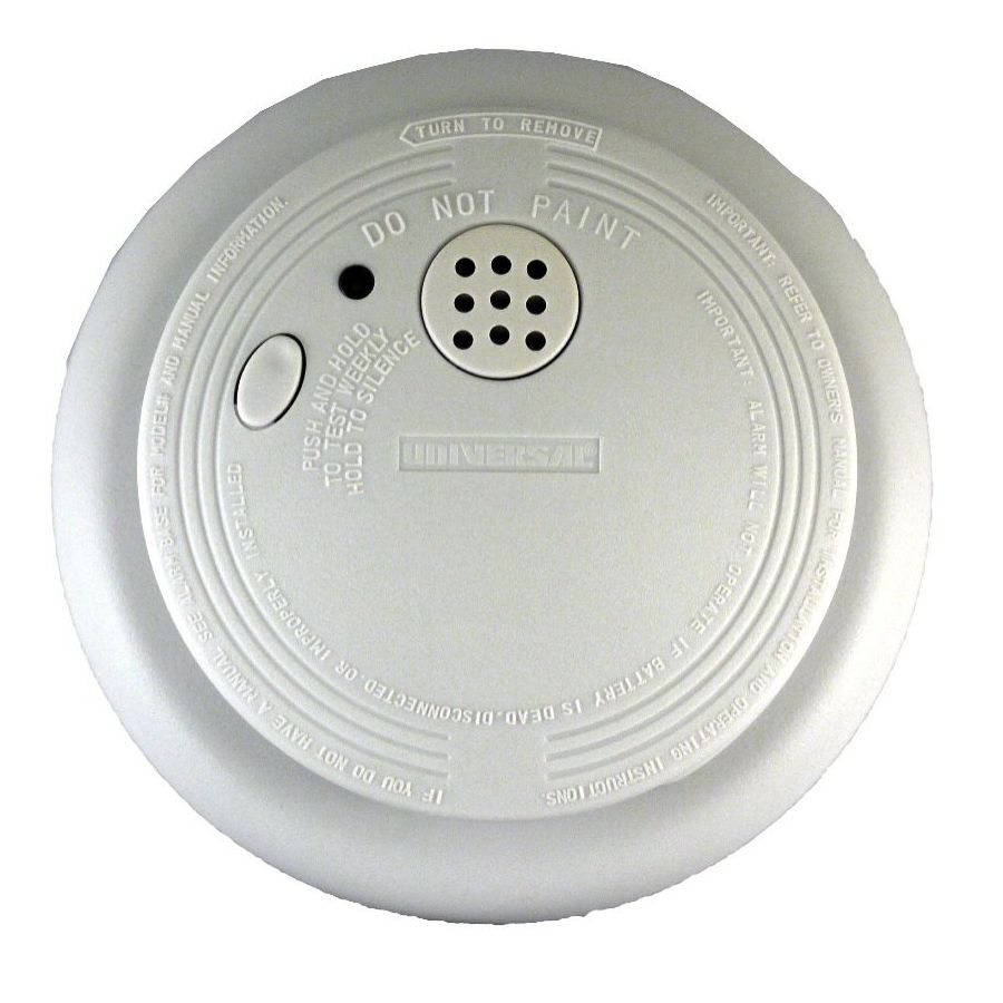 USI Electric USI-1209 Hardwired Ionization Smoke and Fire Alarm with Backup  Battery