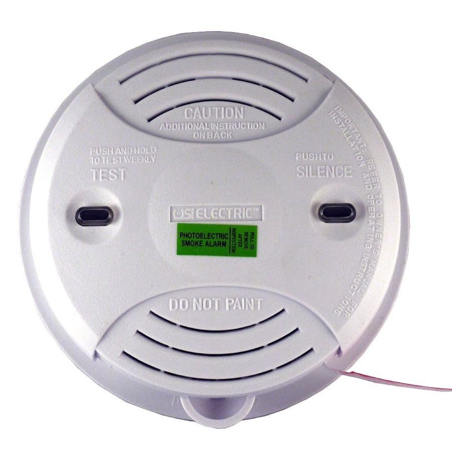 Universal Security Instruments USI‑3204 Wired‑In 120 Volt Photoelectric Alarm