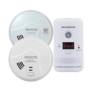 Universal Security Smoke, Fire & Carbon Monoxide Detectors