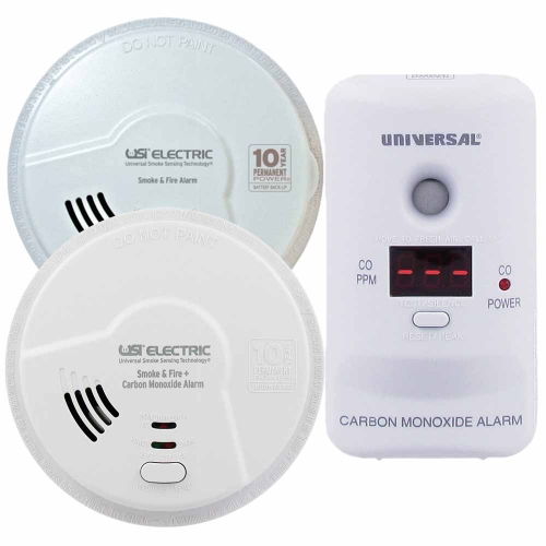 Combination Smoke, Carbon Monoxide and Gas Alarms