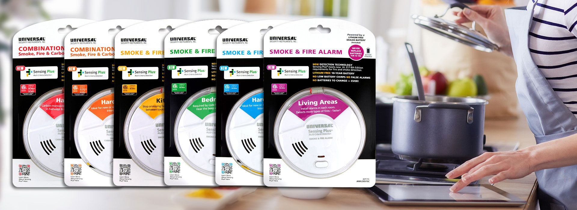 USI sensing plus smoke alarms